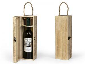 Drvena poklon kutija za flašu