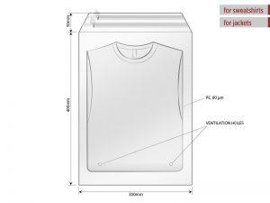 Kesa za pakovanje, dimenzije 30 x 40 cm