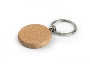 Drveni okrugli privezak za ključeve