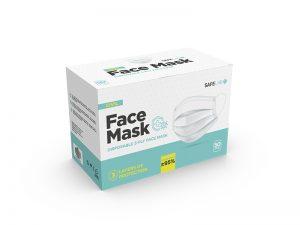 Zaštitna maska za jednokratnu upotrebu u pojedinačnom pakovanju